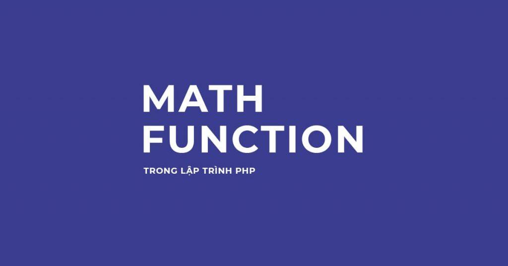 Một số hàm toán học trong lập trình PHP