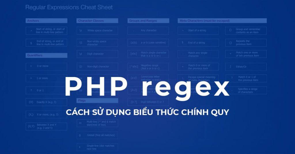 Biểu thức chính quy trong PHP