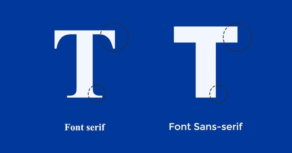 Sự khác biệt giữa phông chữ Serif và Sans-serif