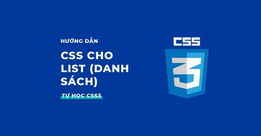 Hướng dẫn viết CSS cho List (Danh sách)