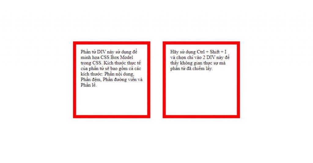 Ví dụ minh họa CSS Box Model