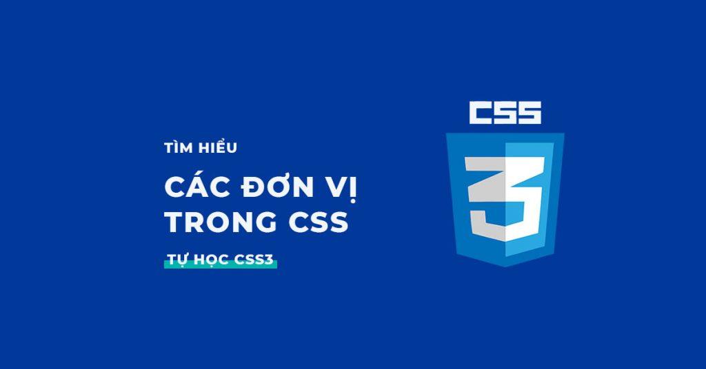 Các đơn vị trong CSS