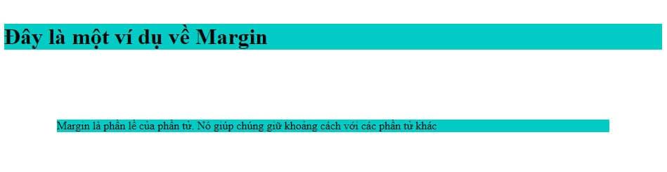 Ví dụ thiết lập Margin trong CSS