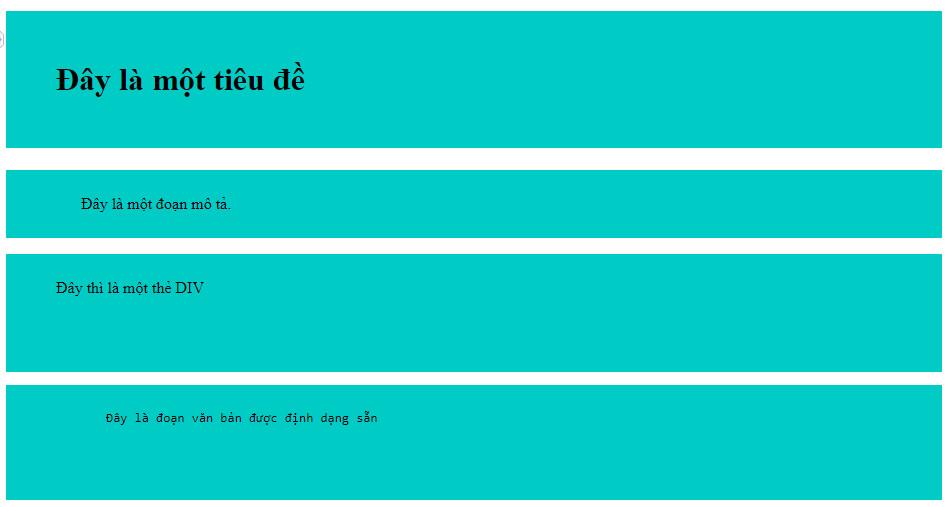 Ví dụ thiết lập padding trong CSS 2